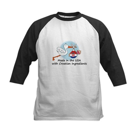 Stork Baby Croatia USA Kids Baseball Jersey
