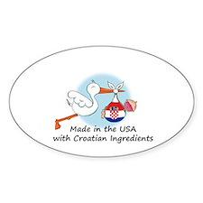 Stork Baby Croatia USA Decal