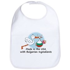 Stork Baby Bulgaria USA Bib