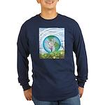 Earth Day Tree 1 Long Sleeve Dark T-Shirt