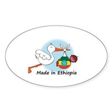 Stork Baby Ethiopia Decal