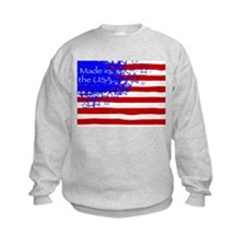 "Sweatshirt - says ""Made in the USA"""