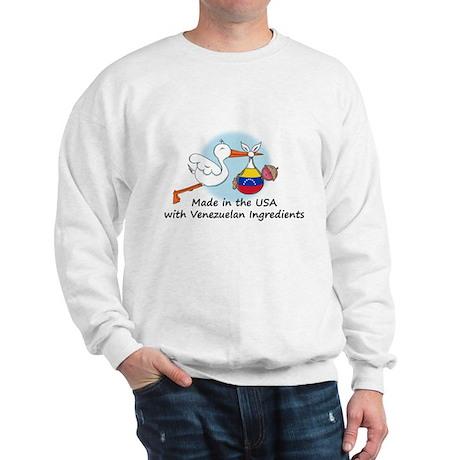 Stork Baby Venezuela USA Sweatshirt