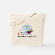 Stork Baby Venezuela USA Tote Bag