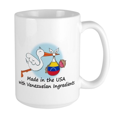 Stork Baby Venezuela USA Large Mug