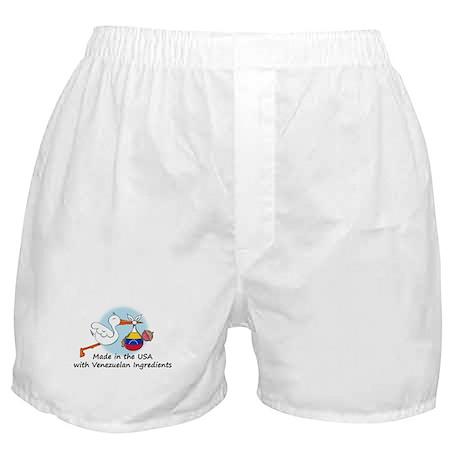 Stork Baby Venezuela USA Boxer Shorts