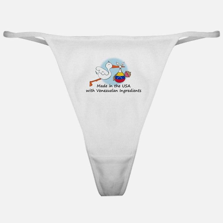 Stork Baby Venezuela USA Classic Thong
