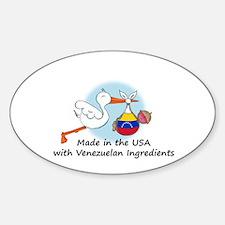 Stork Baby Venezuela USA Decal
