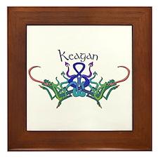 Keagan's Celtic Dragons Name Framed Tile