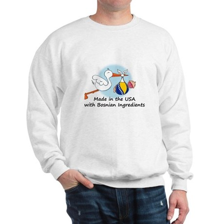 Stork Baby Bosnia USA Sweatshirt