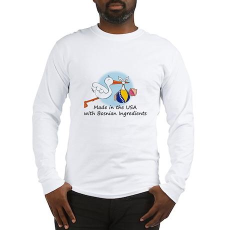 Stork Baby Bosnia USA Long Sleeve T-Shirt