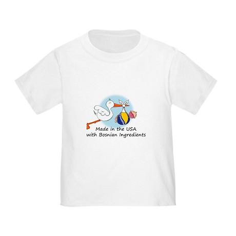 Stork Baby Bosnia USA Toddler T-Shirt
