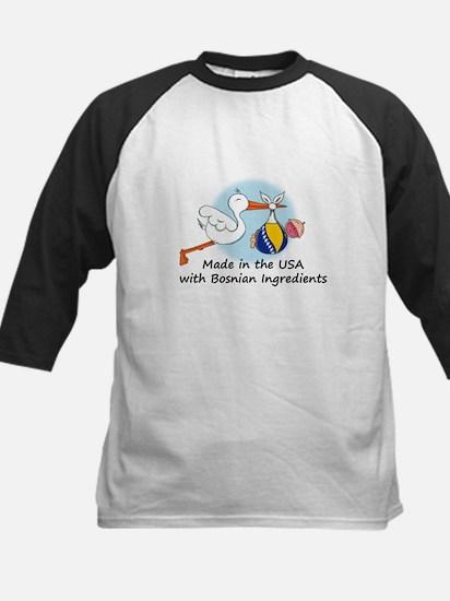 Stork Baby Bosnia USA Kids Baseball Jersey