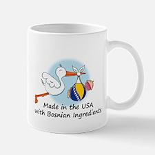 Stork Baby Bosnia USA Mug