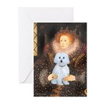 Queen / Maltese (B) Greeting Cards (Pk of 10)