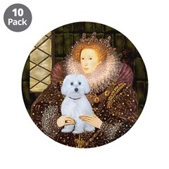 "Queen / Maltese (B) 3.5"" Button (10 pack)"