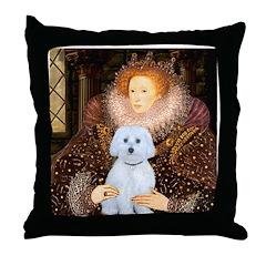 Queen / Maltese (B) Throw Pillow