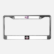 Cute Breast cancer awareness License Plate Frame