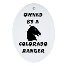 Colorado Ranger Oval Ornament