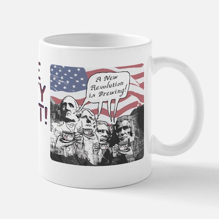 Tea Party Rushmore Mug