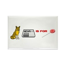 Cute Anti liberal media Rectangle Magnet