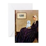Whistlers Mom / Maltese (B) Greeting Cards (Pk of