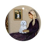Whistlers Mom / Maltese (B) Ornament (Round)
