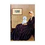 Whistlers Mom / Maltese (B) Mini Poster Print