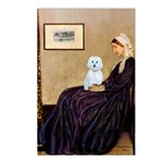 Whistlers Mom / Maltese (B) Postcards (Package of