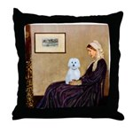 Whistlers Mom / Maltese (B) Throw Pillow