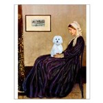 Whistlers Mom / Maltese (B) Small Poster
