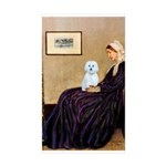 Whistlers Mom / Maltese (B) Sticker (Rectangle 10