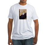 Whistlers Mom / Maltese (B) Fitted T-Shirt