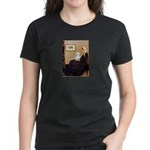 Whistlers Mom / Maltese (B) Women's Dark T-Shirt