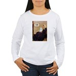 Whistlers Mom / Maltese (B) Women's Long Sleeve T-