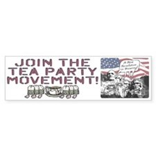 Tea Party Rushmore Bumper Sticker