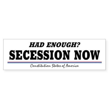 Secession Now! Sticker (Bumper)