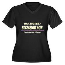 Secession Now! Women's Plus Size V-Neck Dark T-Shi