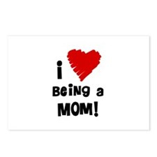 I Heart Being a Mom! Postcards (Package of 8)
