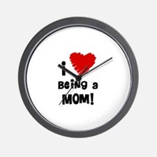 I Heart Being a Mom! Wall Clock