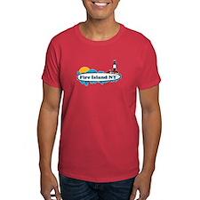 Fire Island NY - Surf Design T-Shirt