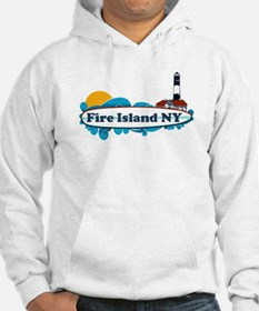 Fire Island NY - Surf Design Hoodie