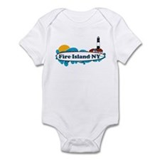 Fire Island NY - Surf Design Infant Bodysuit