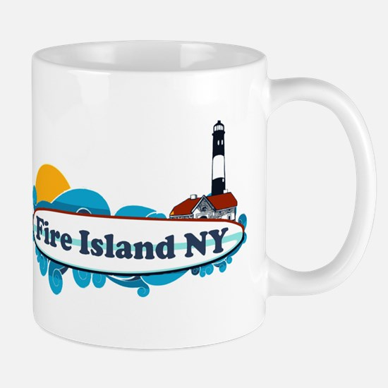 Fire Island NY - Surf Design Mug