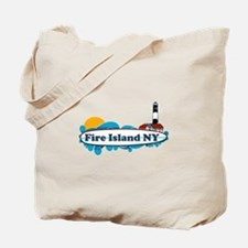 Fire Island NY - Surf Design Tote Bag