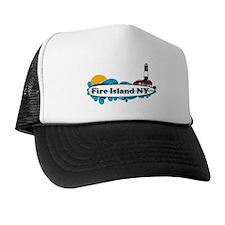 Fire Island NY - Surf Design Trucker Hat