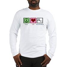 Peace Love Scrapbooking Long Sleeve T-Shirt
