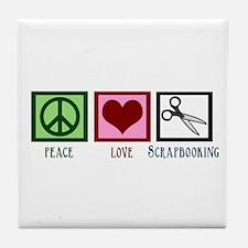 Peace Love Scrapbooking Tile Coaster