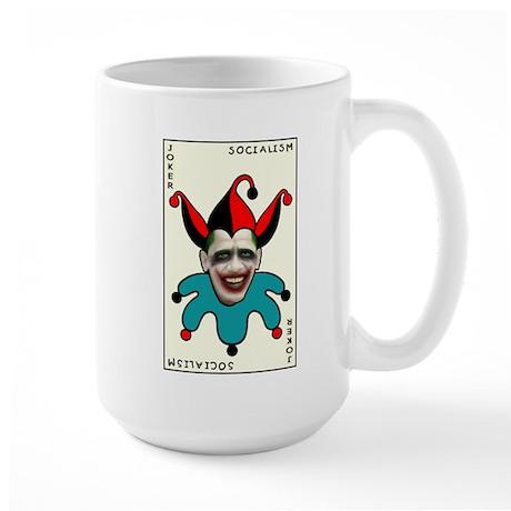Large Mug - Obama socialism joker card image