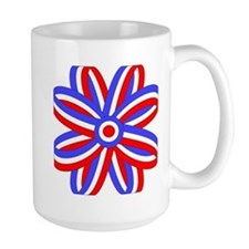 RED, WHITE & BLUE BOW Mug